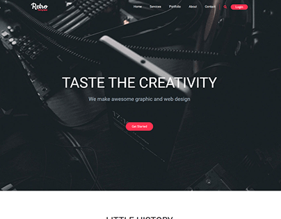 Full Website with bootstrap