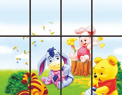 Winnie the Pooh Home Decoration Sticker