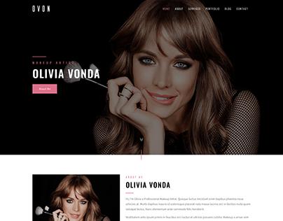 OVON - Makeup Artist, Model & Beauty Template