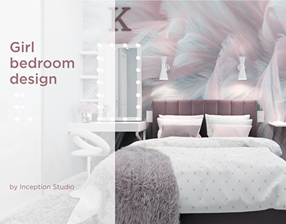 Girl's bedroom in the style of romanticism