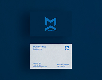 Branding Mariano Amat. Padel