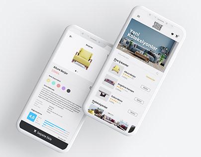 stella mobilya - mobil arayüz tasarımı