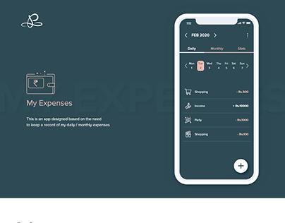 My Expenses (UI/UX Design)