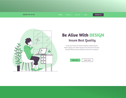 Hero Section of Design Agency Website
