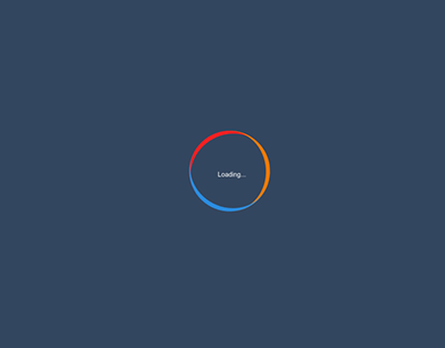 Loading 1 sample with Css3 & Html5