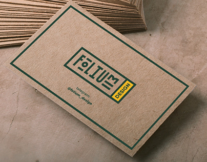 Folium Design Visit Cards