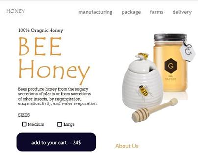 Honey store by Adobe XD