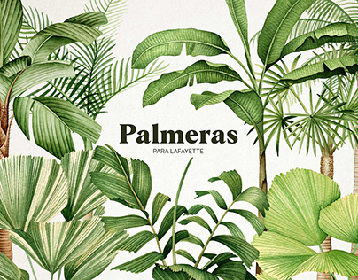 Palms in watercolor