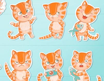 Stickerpack. Cat Keksik