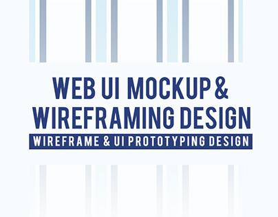 WEB UI Mockup & Wireframing Design