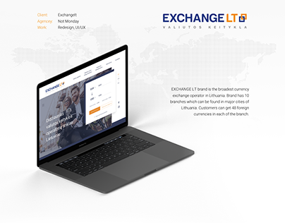 UX/UI design | Currency exchange operator in Lithuania