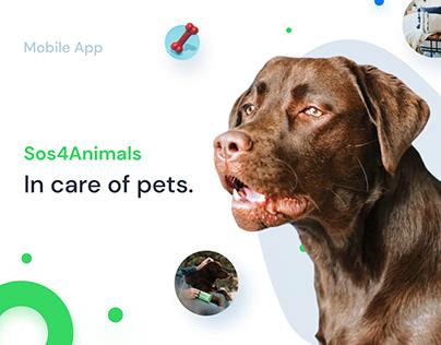 Sos4animals. Pet search. App Design Ux/Ui