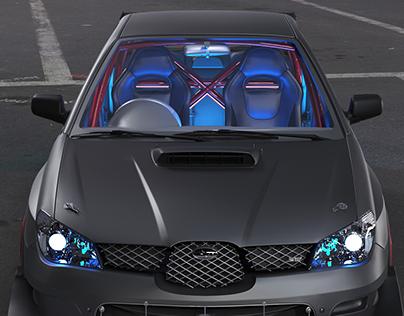 Subaru WRX Sti My 1st 3d automotive renred experience