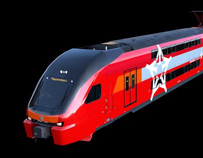 Аэроэкспресс Stadler Kiss 3d model