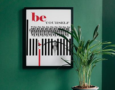 Afiş Tasarımı - Be Yourself (Dada)