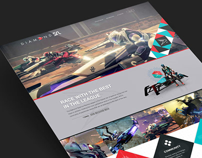 Destiny Sparrow Racing Website Design