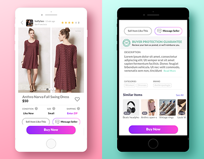 Mercari item page redesign