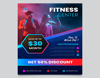 Fitness posters designs