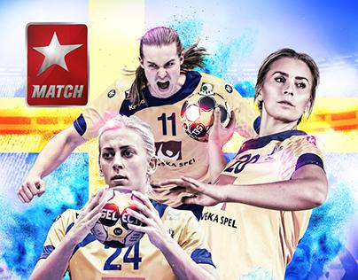 Swedish Handball National Team - Cover design