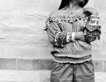 "Fashion design- ""Days of pearls"" shirt design"