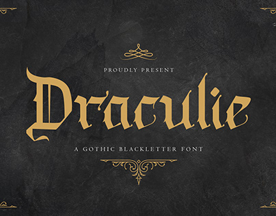 Draculie – Ghothic Blackletter Font