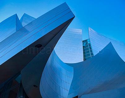 Angles of Walt Disney Concert Hall in Los Angeles