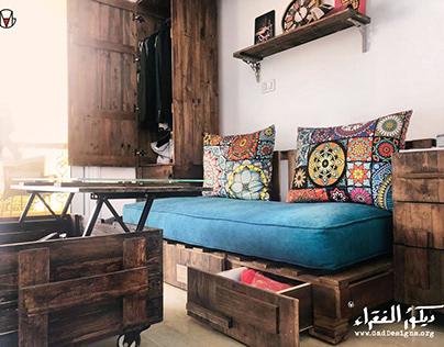 Pallet-wood Bedroom   DIY