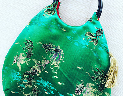 Bag with Japanese pattern