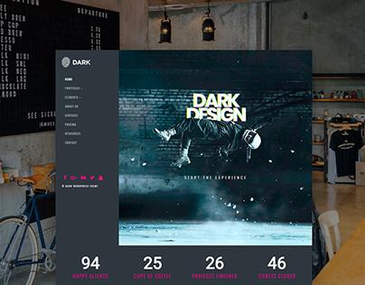 Dark WordPress Theme Home Page