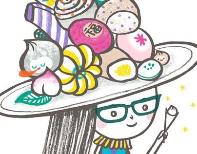 Taiwan Food and Fashion Illustration