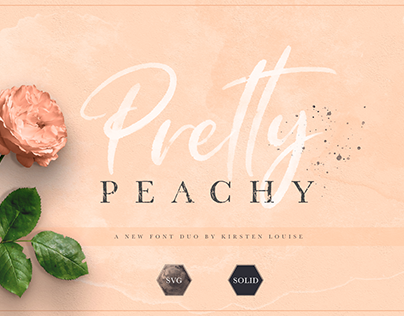 Pretty Peachy SVG Font Duo