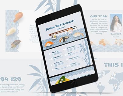 Sushi Restaurant - free Google Slides Template
