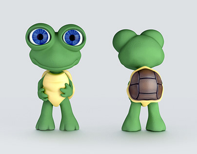 Cute Little Turtle Character