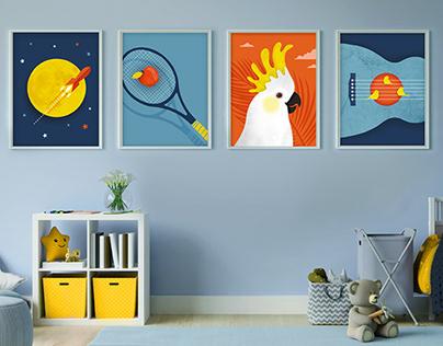 Nursery Illustration prints #2