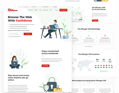 VPN website design