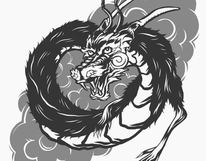 Japanese dragon sketch study