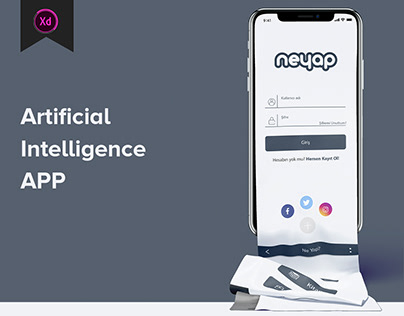 NeYap - Artificial Intelligence App UI/UX Design