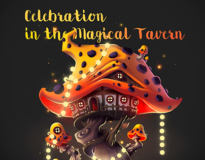 Concept Art for The Magical Mushroom Tavern