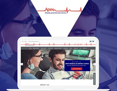 Apex Medical & Dental Clinks Website UI Design