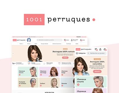 1001 Perruques - refonte partielle du site