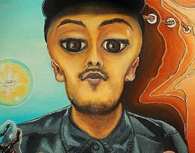 Fanta6 / Retrato surrealista en óleo