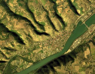 Côte Rotie : Terrasses sur le Rhône