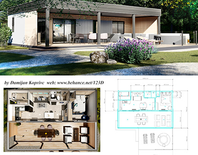 modern mobile home , vacation house on 44m2