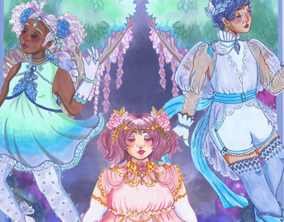 Art Nouveau Magical Girl Print