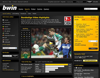 various | bwin product design