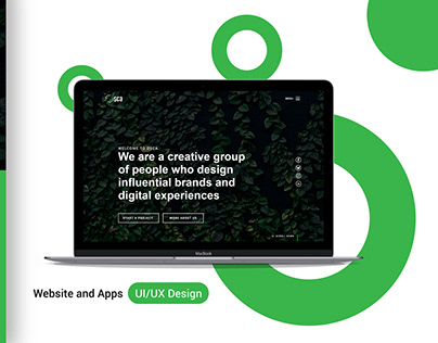 UI/UX Landing Page for a Designer company