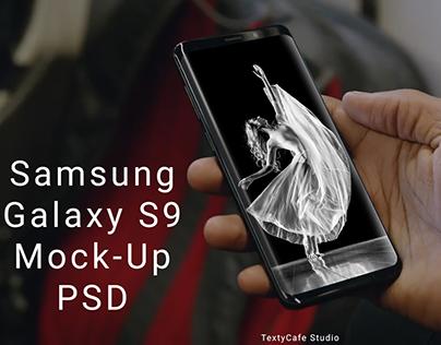 Free Samsung Galaxy S9 Mockup PSD Template