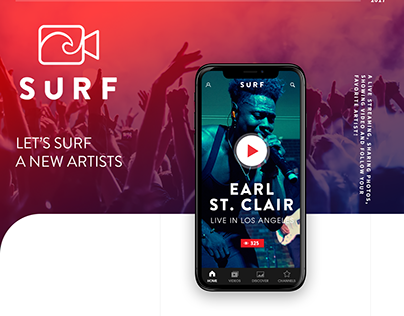 UI/UX Design. SURF Mobile & Web App