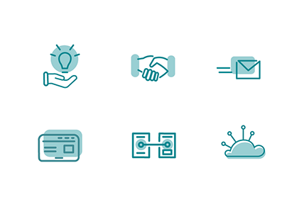 Icons for I-modich Digitalisierungsagentur