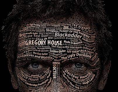Portrait typographique // Hugh Laurie